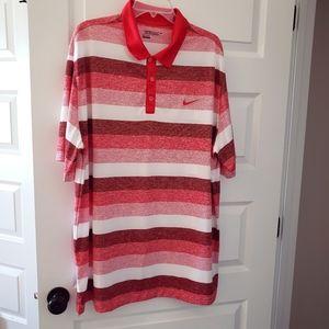 "Nike DRI-FIT 3XLT ""tour"" golf shirt red,white,org."